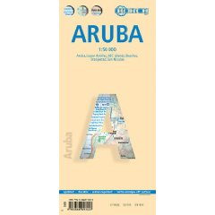 Aruba 1 : 50 000. Road Map + City Maps: Aruba, Lesser Antilles, ABC Islands, Beaches, Oranjestad, San Nicolas. Laminiert [Folded Map] (Landkarte)